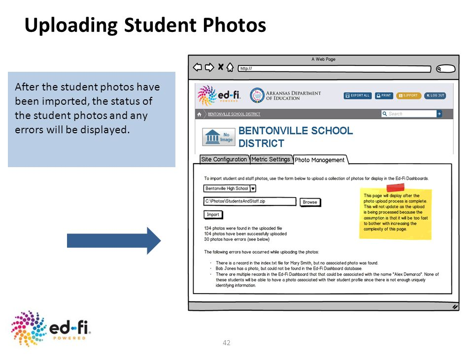 Uploading Student Photos