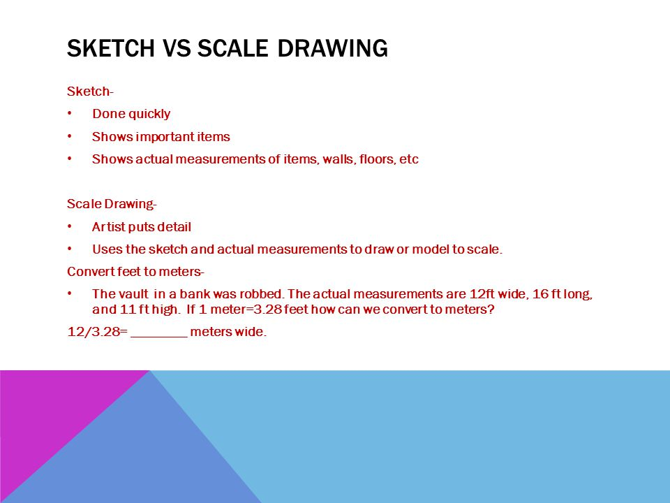 Sketch Vs Scale Drawing