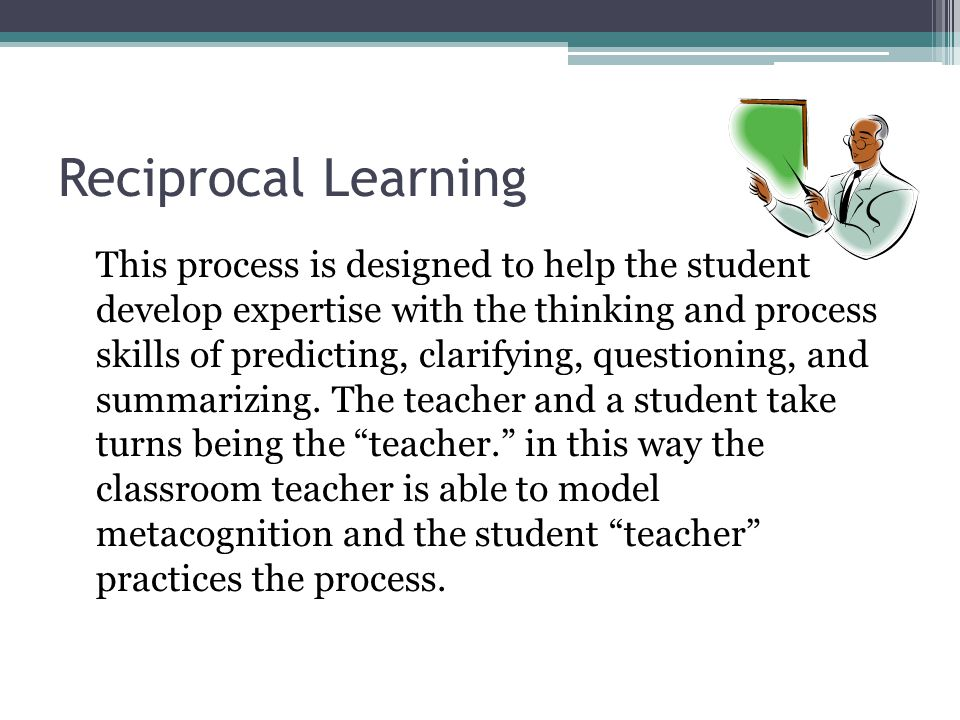 Reciprocal Learning