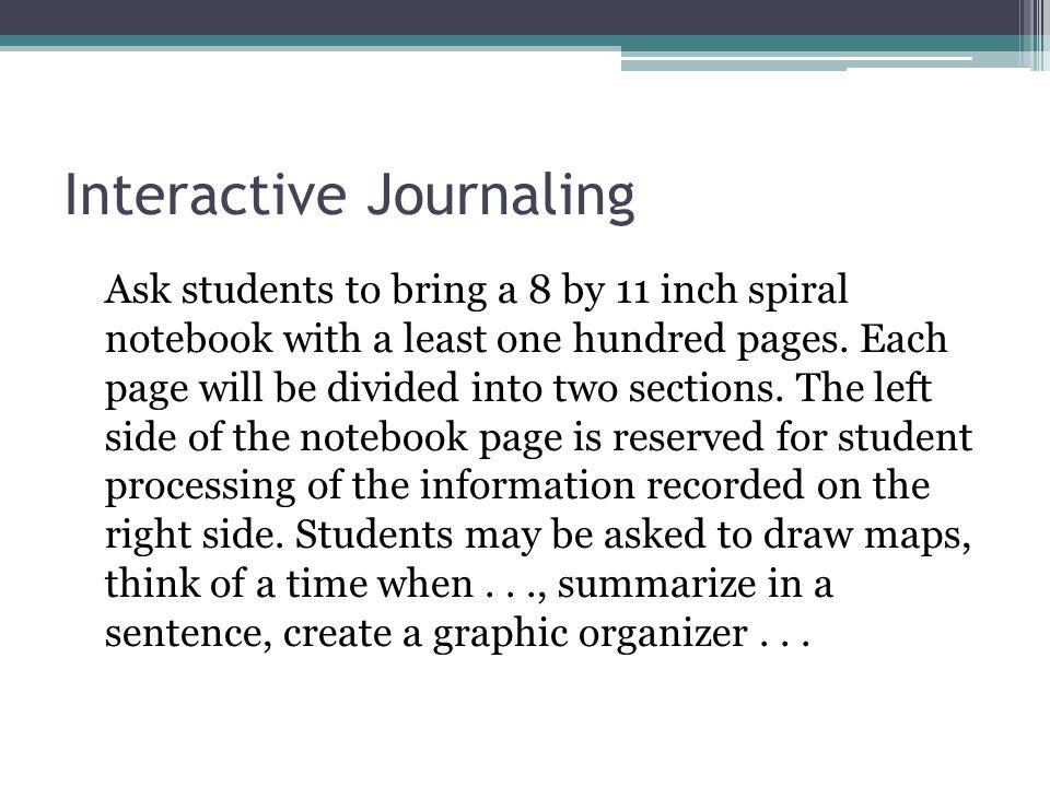 Interactive Journaling