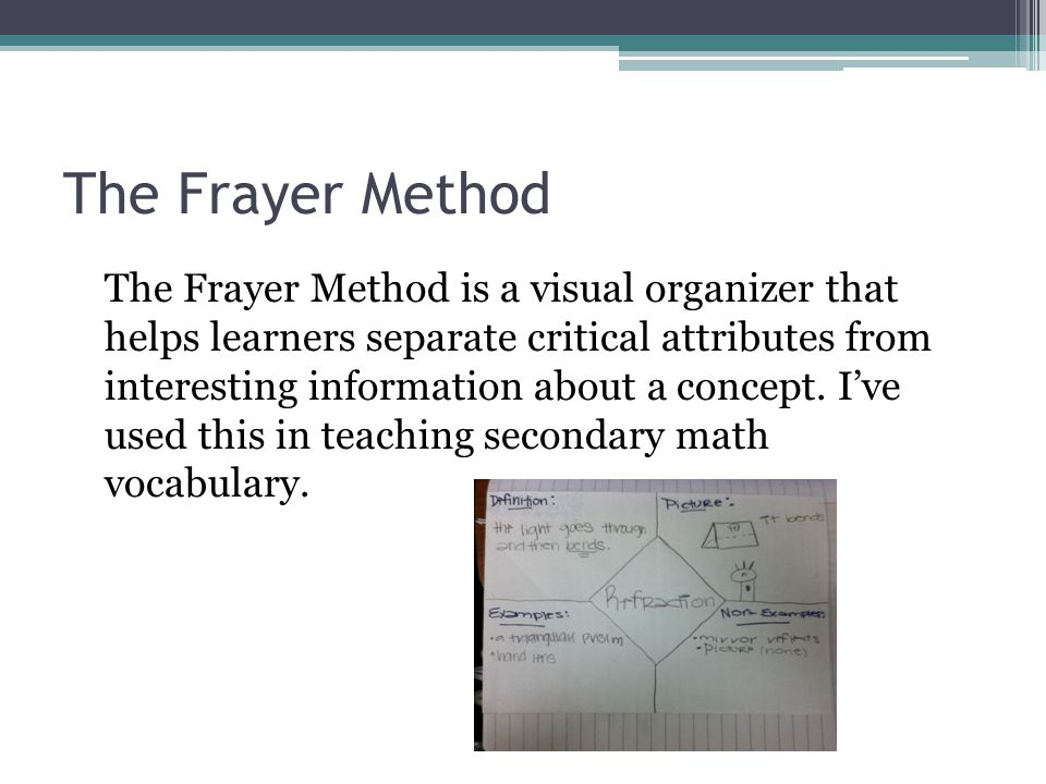 The Frayer Method