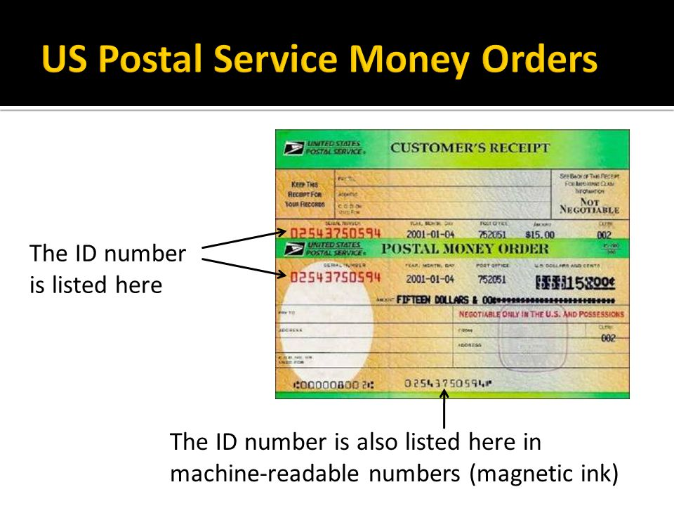 US Postal Service Money Orders
