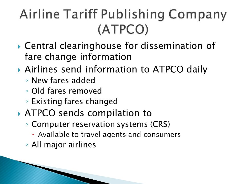 Airline Tariff Publishing Company (ATPCO)