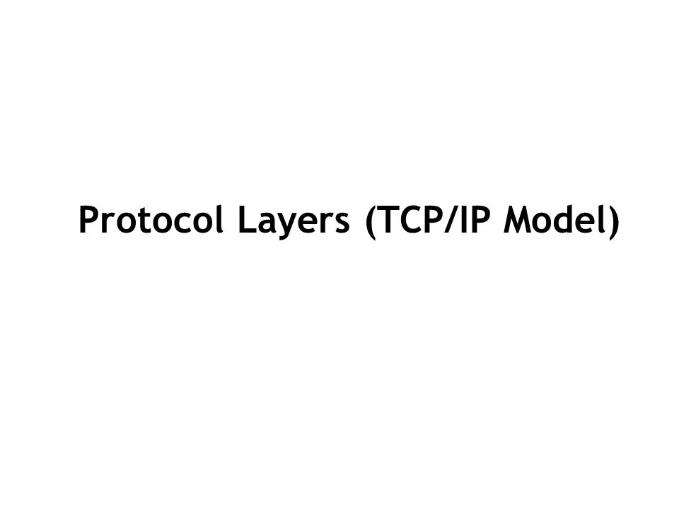 Protocol Layers (TCP/IP Model)