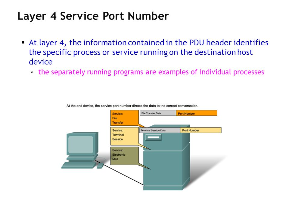 Layer 4 Service Port Number