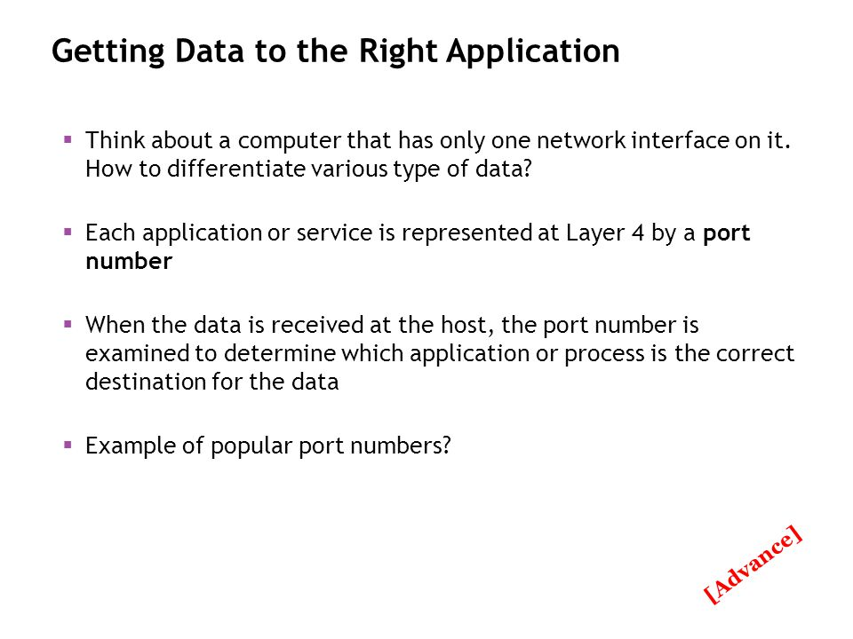 Getting Data to the Right Application