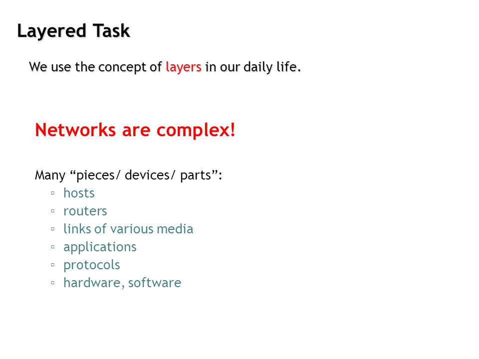 Layered Task Networks are complex!