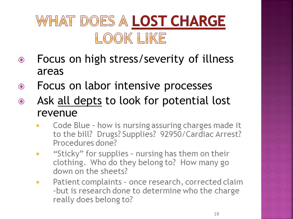 What Does a Lost Charge Look Like