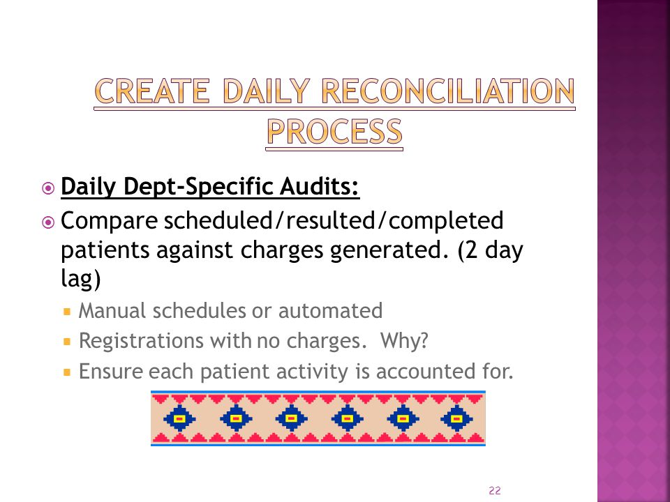 Create Daily Reconciliation Process
