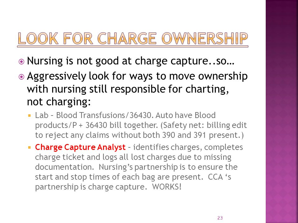 Look for Charge Ownership