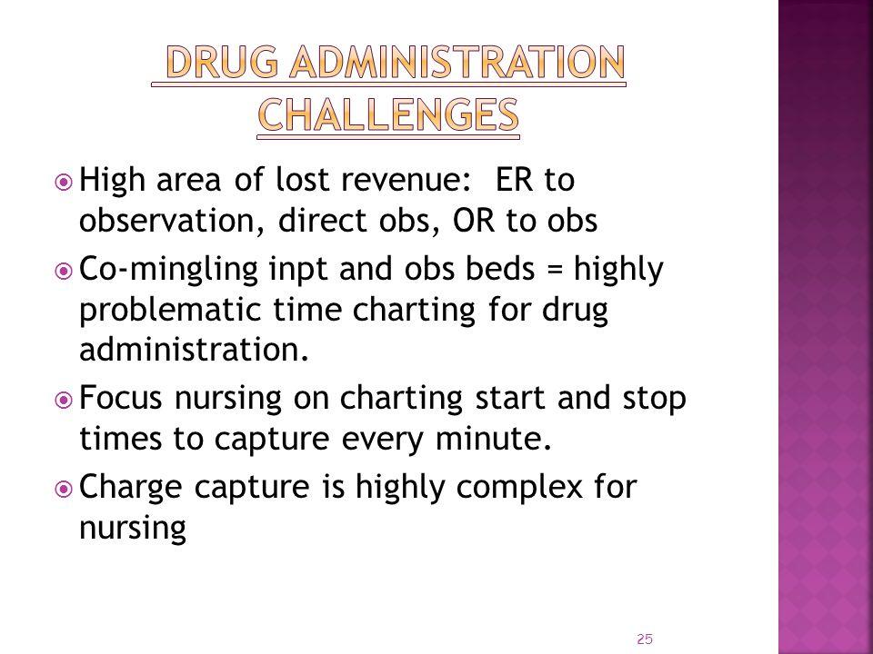 Drug Administration Challenges