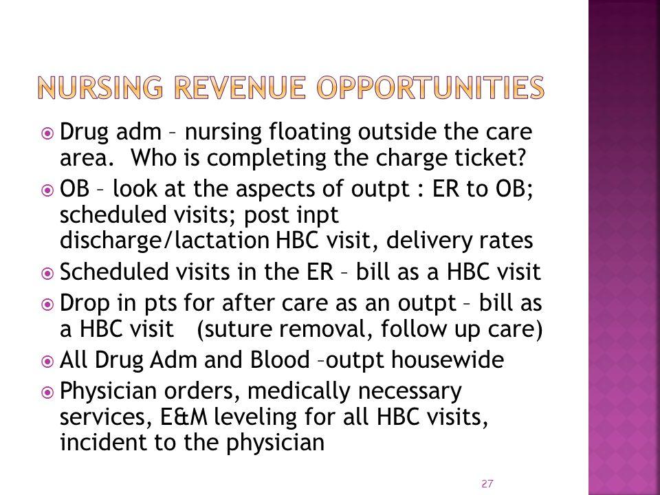 Nursing Revenue Opportunities