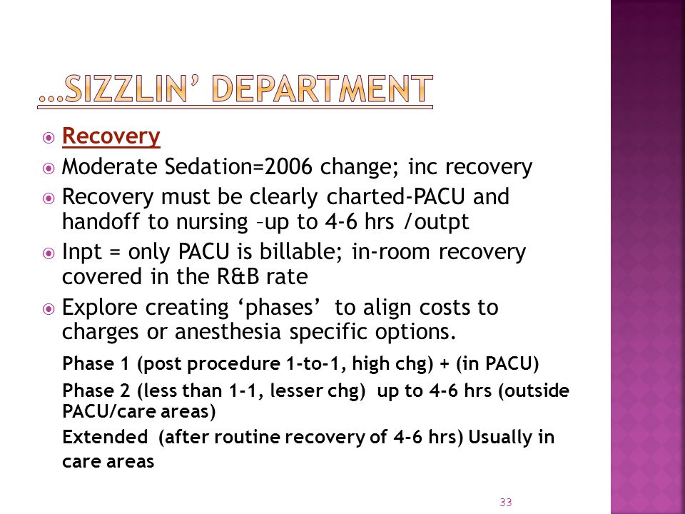 …Sizzlin' Department Recovery