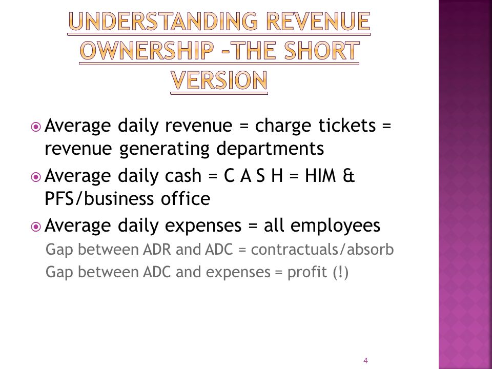 Understanding revenue ownership –the short version