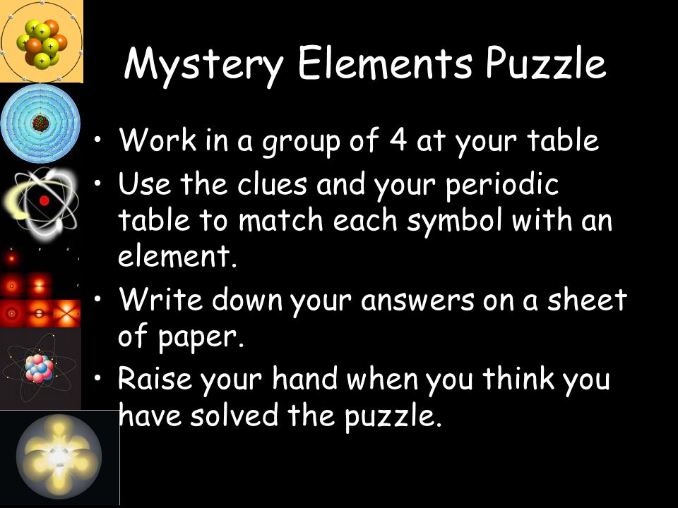 Mystery Elements Puzzle