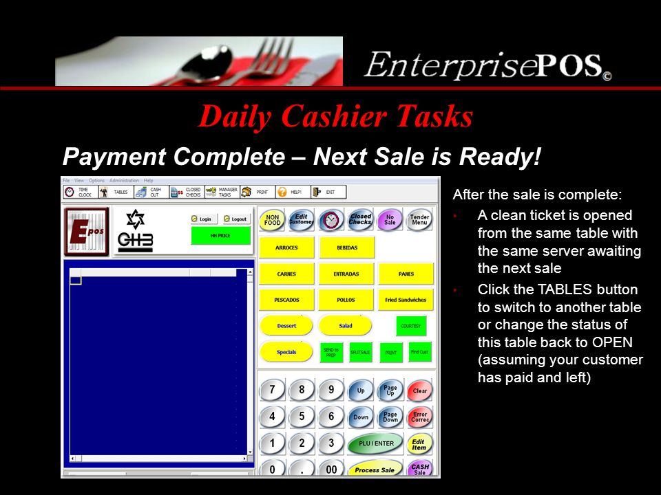 Daily Cashier Tasks Payment Complete – Next Sale is Ready!