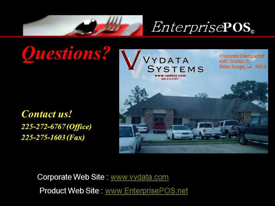 Questions Contact us! 225-272-6767 (Office) 225-275-1603 (Fax)