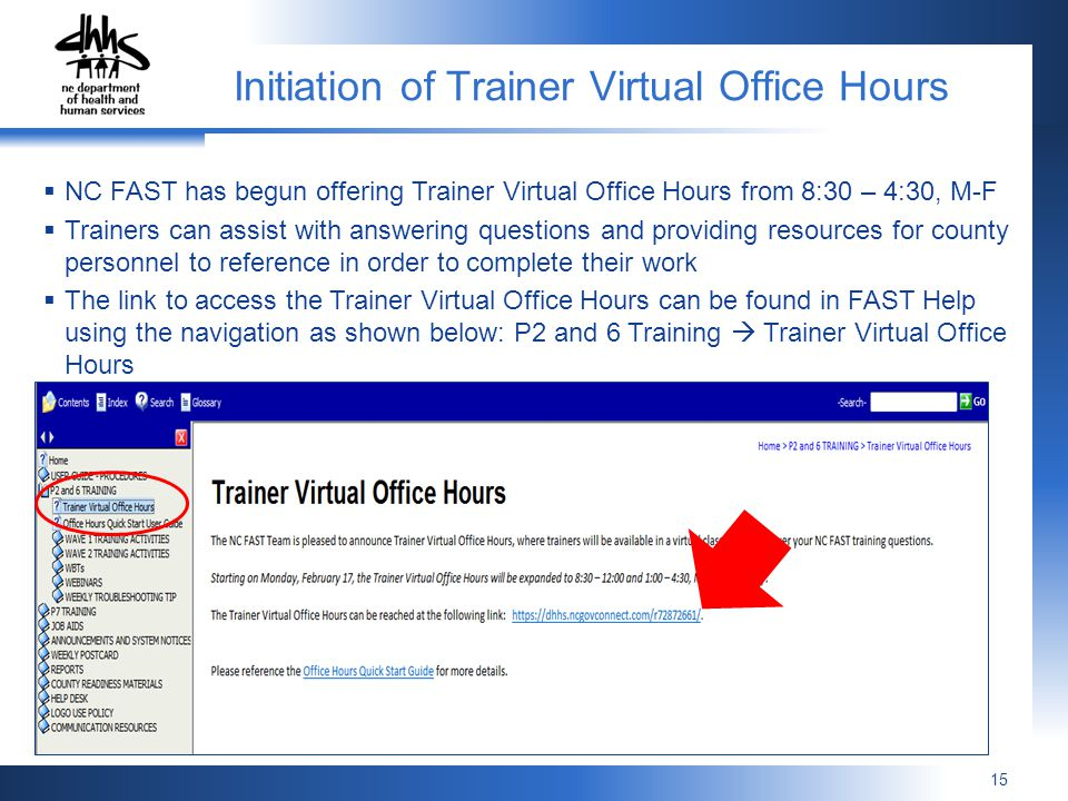 Initiation of Trainer Virtual Office Hours