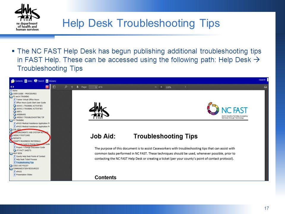 Help Desk Troubleshooting Tips