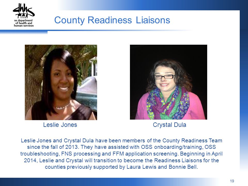 County Readiness Liaisons