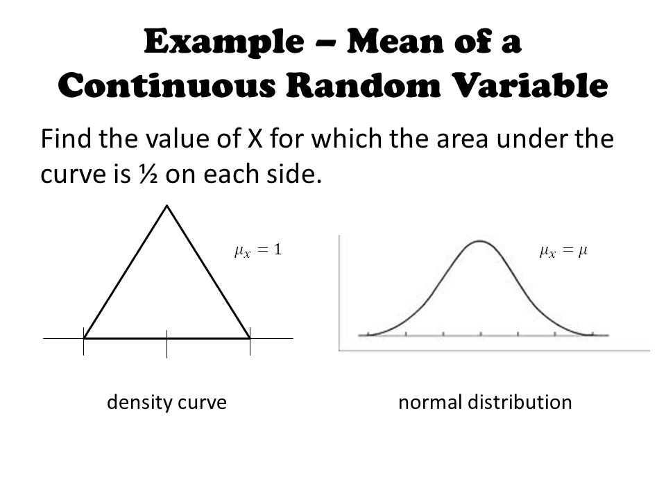 Example – Mean of a Continuous Random Variable