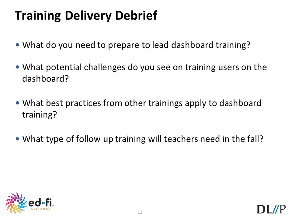 Training Delivery Debrief