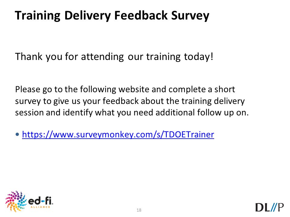 Training Delivery Feedback Survey