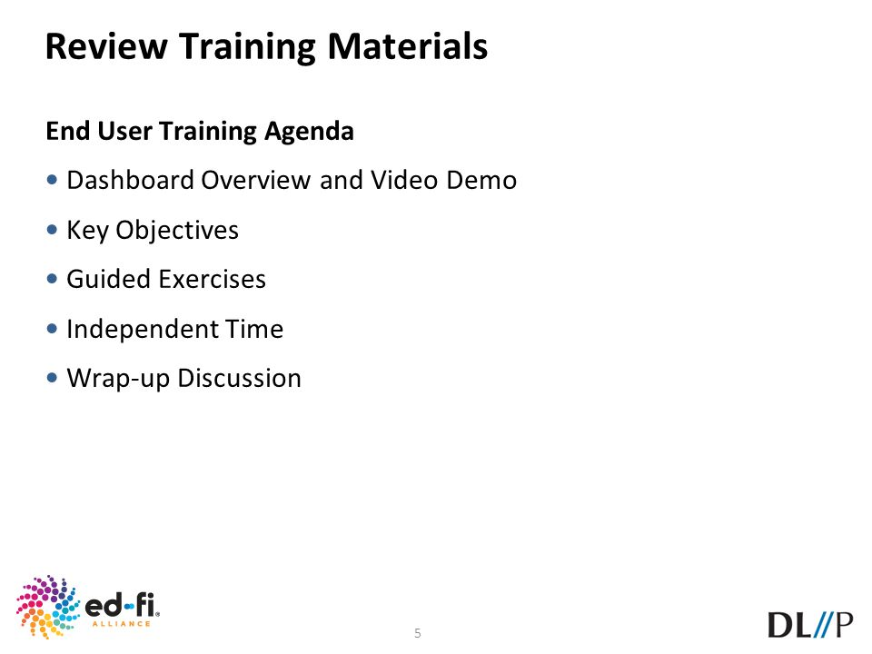 Review Training Materials