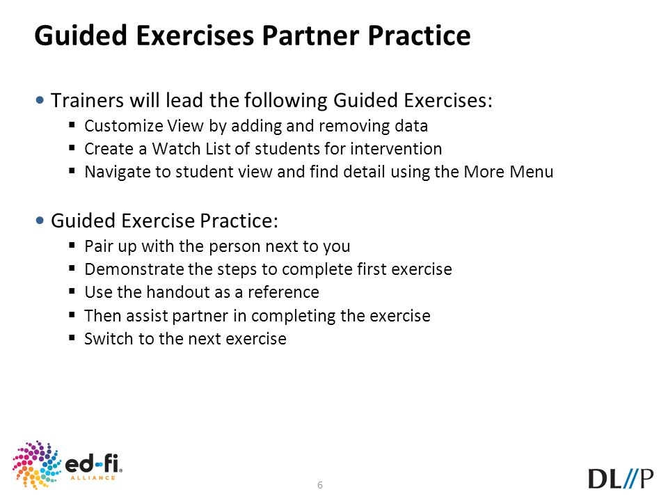 Guided Exercises Partner Practice