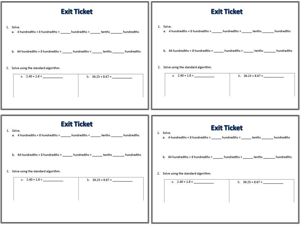Exit Ticket Exit Ticket Exit Ticket Exit Ticket
