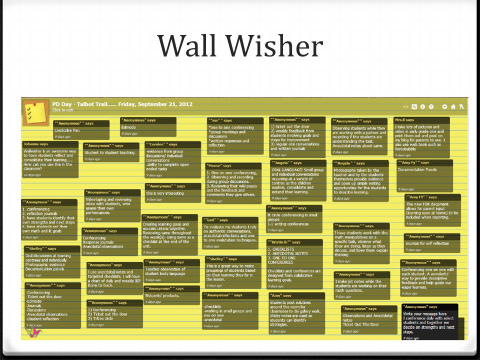 Wall Wisher