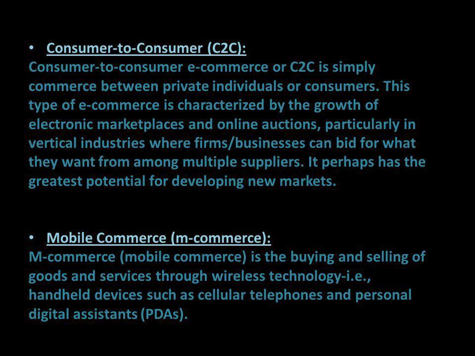 Consumer-to-Consumer (C2C):