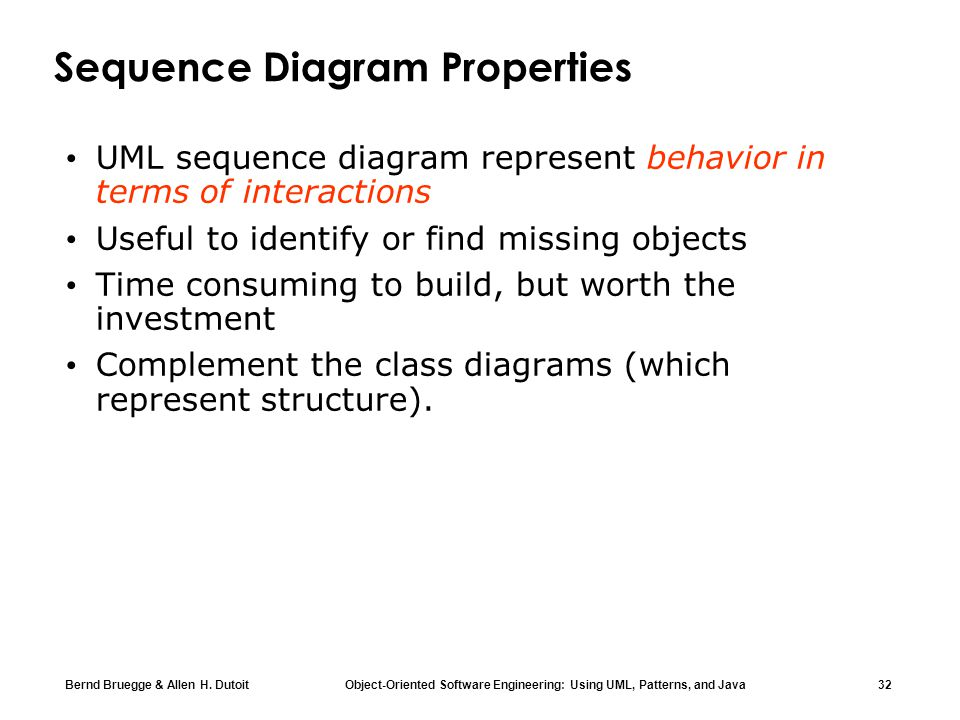 Sequence Diagram Properties