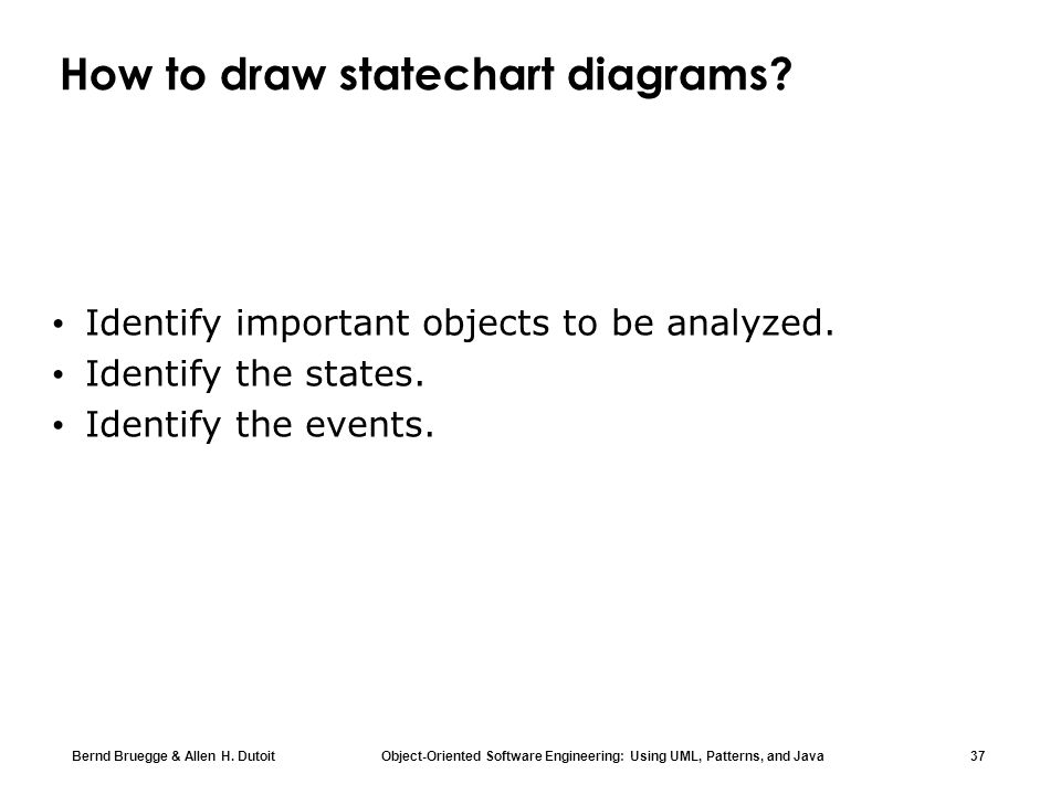 How to draw statechart diagrams