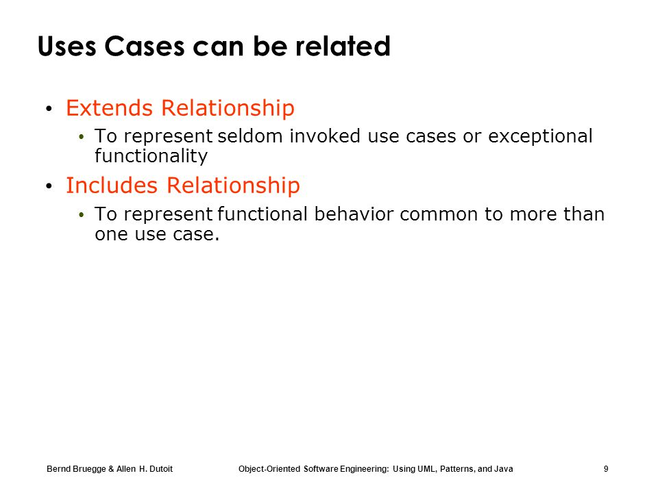 Uses Cases can be related