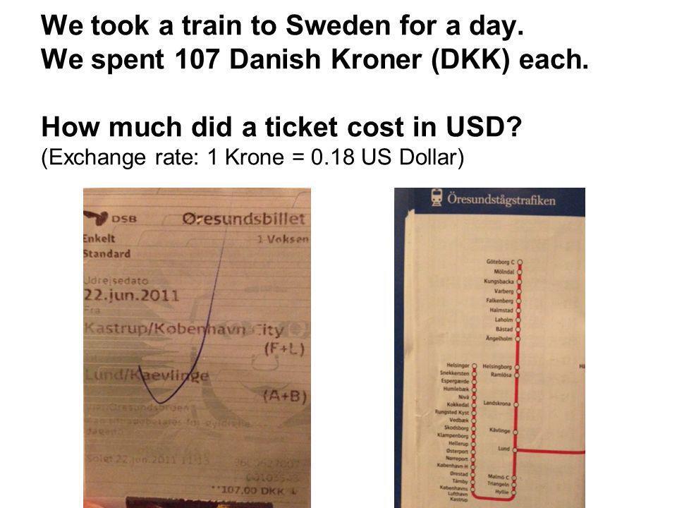 dollars to kroners