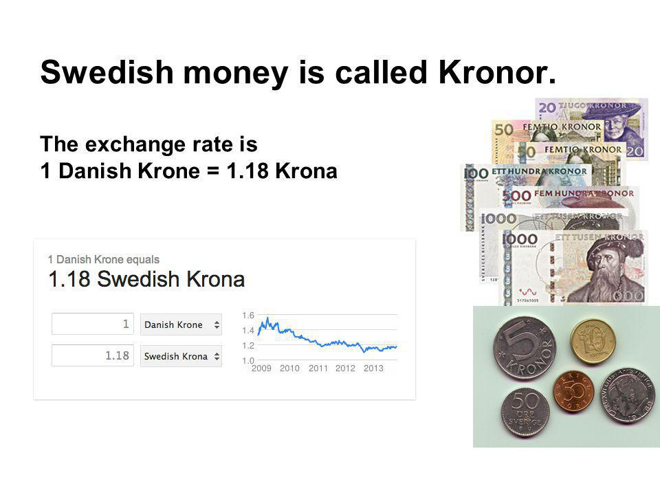 Swedish money is called Kronor.