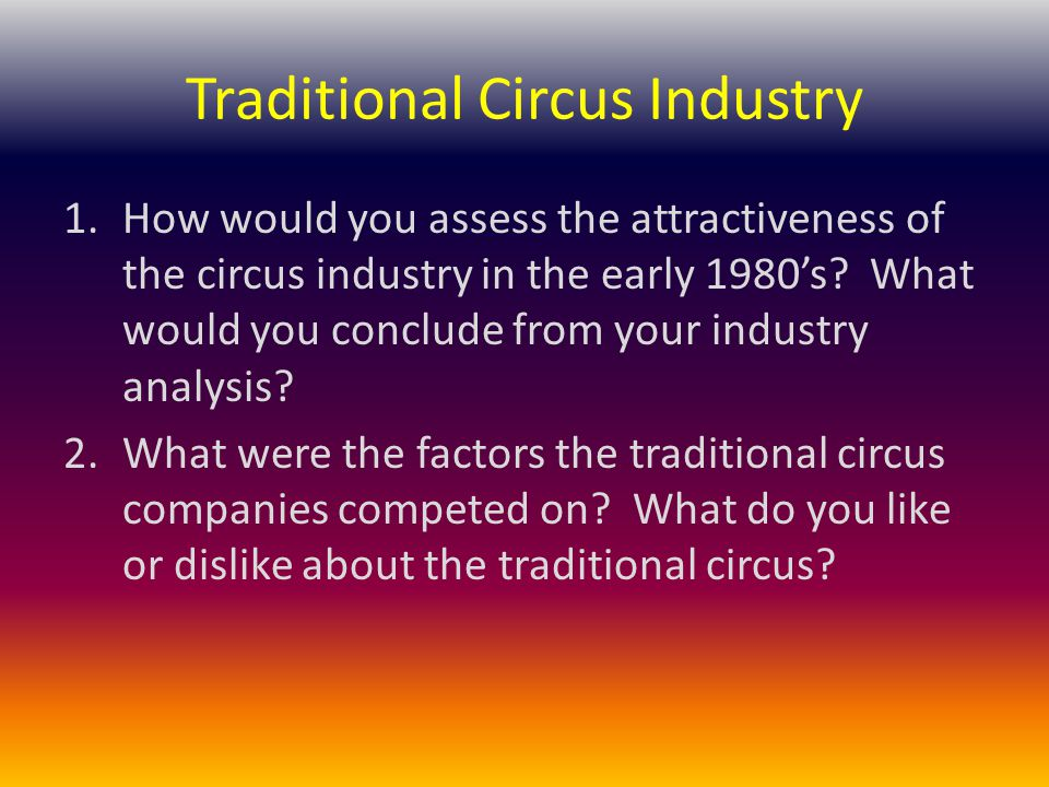 Traditional Circus Industry