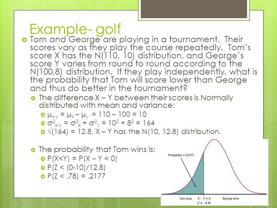 Example- golf