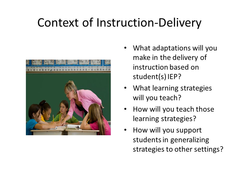 Context of Instruction-Delivery