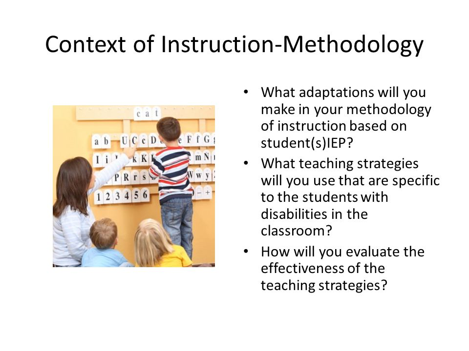 Context of Instruction-Methodology