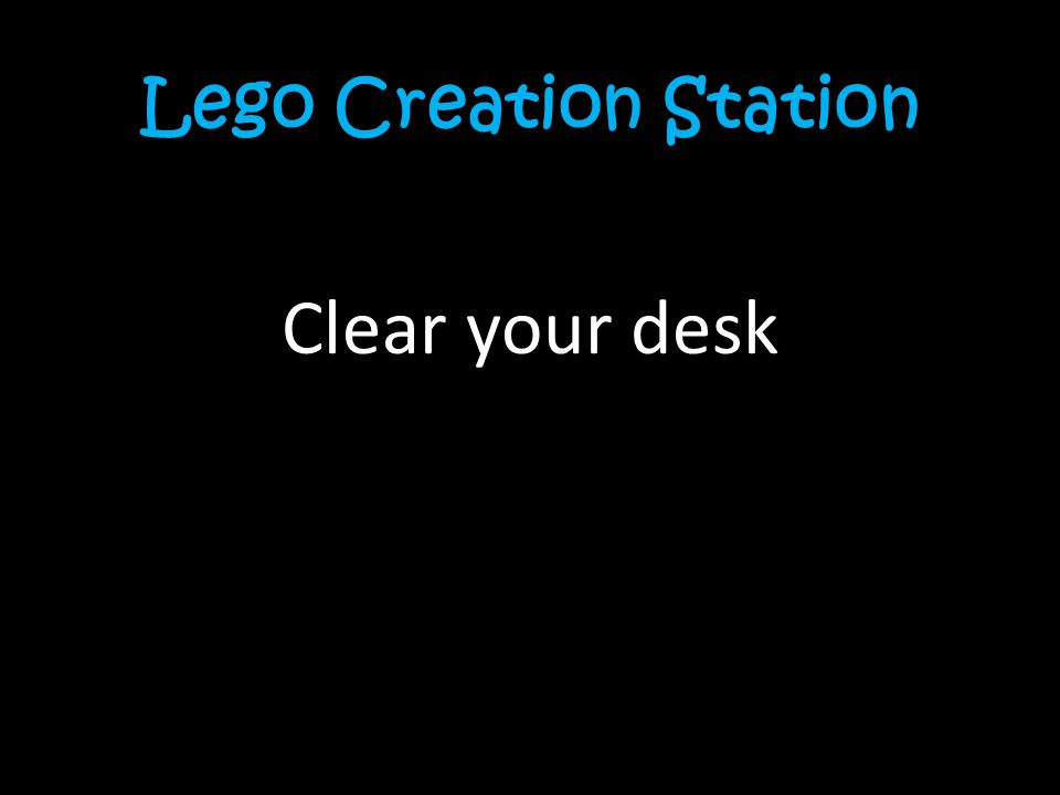 Lego Creation Station Clear your desk