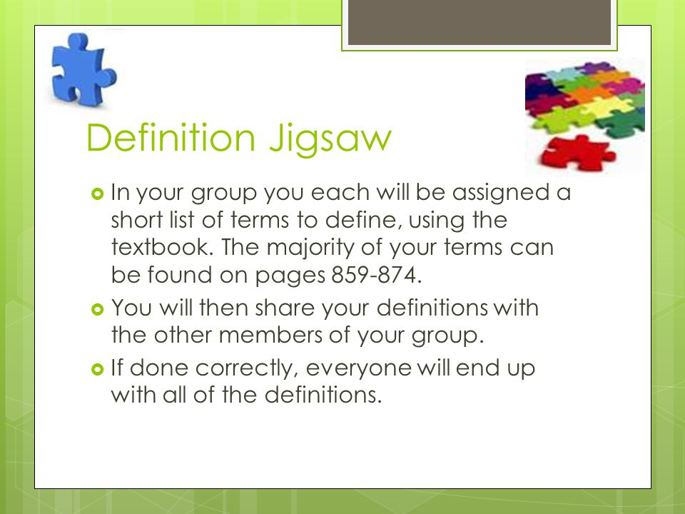 Definition Jigsaw
