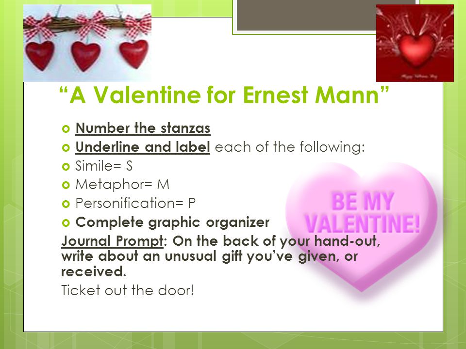 A Valentine for Ernest Mann