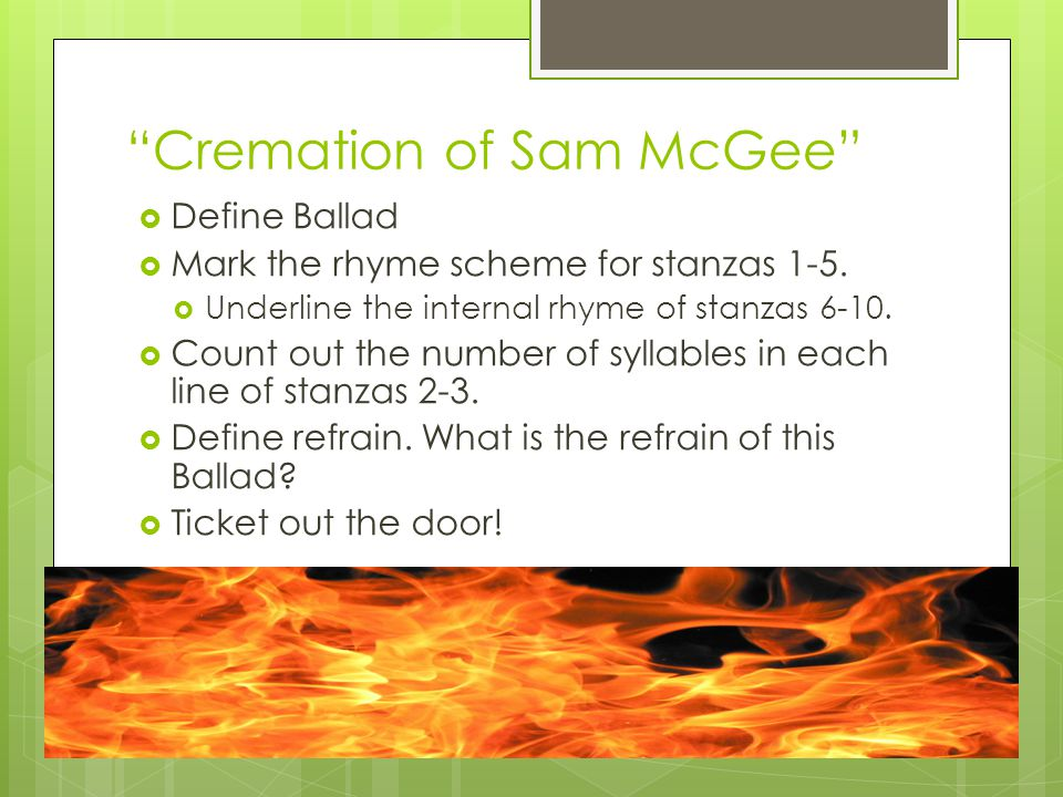Cremation of Sam McGee