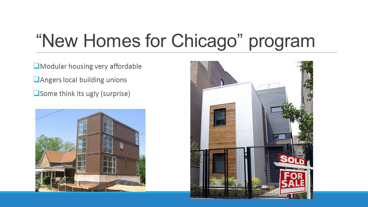 New Homes for Chicago program