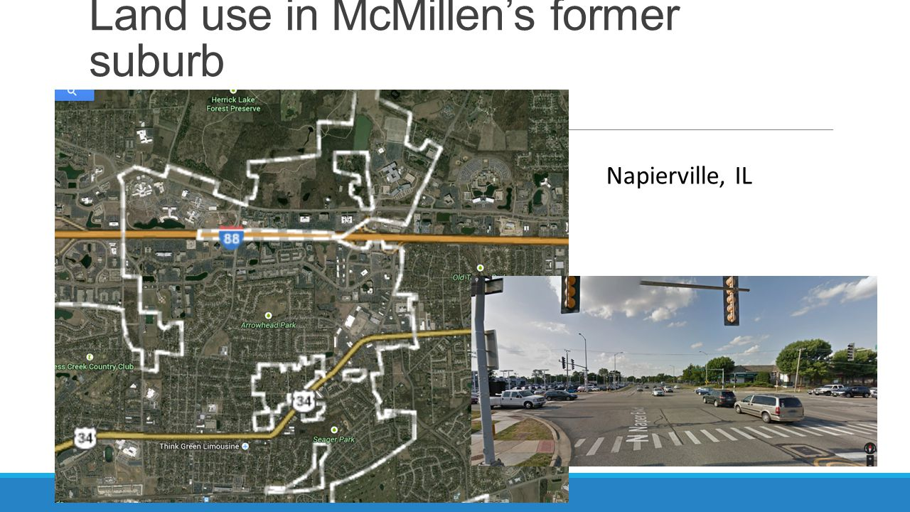 Land use in McMillen's former suburb