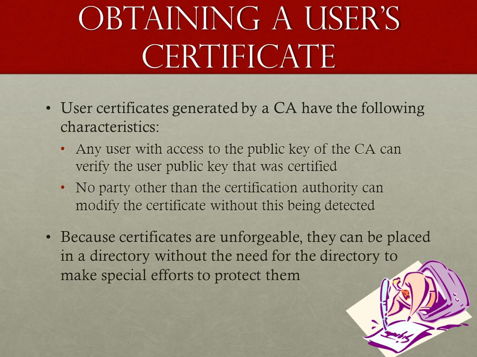 Obtaining a user's certificate