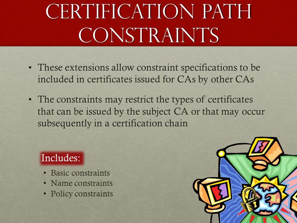 Certification path constraints