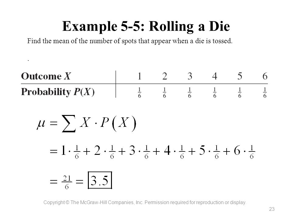 Example 5-5: Rolling a Die